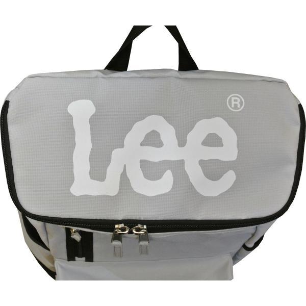 リー リュック Lee million ボックス型 スクエア デイパック プリントロゴ入り A4ファイル対応 320-4810