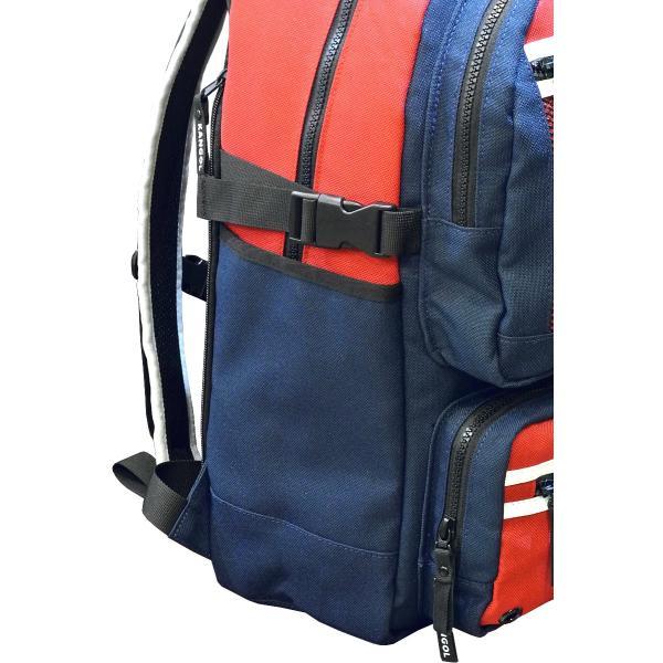 カンゴール リュック メッシュポケット 24L KANGOL RIDE ラウンド型 デイパック 多機能ポケット付き B4 250-1220|luggagemarket|09