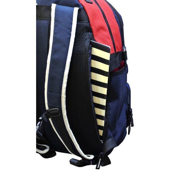 カンゴール リュック メッシュポケット 24L KANGOL RIDE ラウンド型 デイパック 多機能ポケット付き B4 250-1220|luggagemarket|10