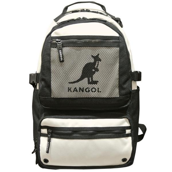 カンゴール リュック メッシュポケット 24L KANGOL RIDE ラウンド型 デイパック 多機能ポケット付き B4 250-1220|luggagemarket|02