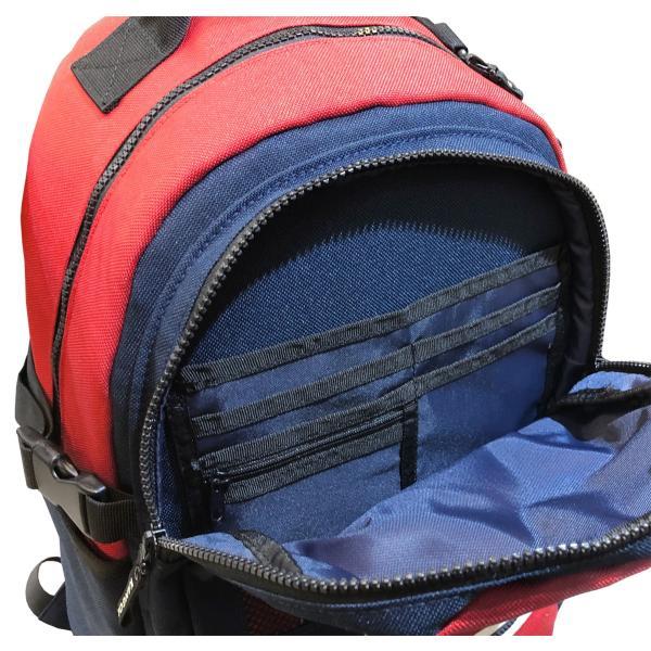 カンゴール リュック メッシュポケット 24L KANGOL RIDE ラウンド型 デイパック 多機能ポケット付き B4 250-1220|luggagemarket|04