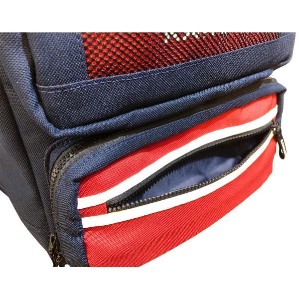 カンゴール リュック メッシュポケット 24L KANGOL RIDE ラウンド型 デイパック 多機能ポケット付き B4 250-1220|luggagemarket|05