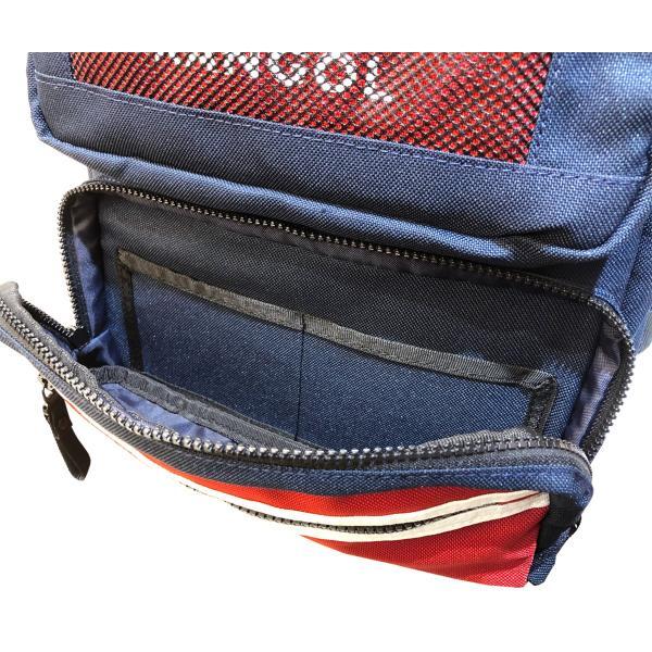 カンゴール リュック メッシュポケット 24L KANGOL RIDE ラウンド型 デイパック 多機能ポケット付き B4 250-1220|luggagemarket|06