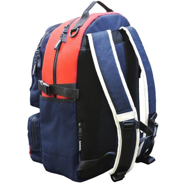 カンゴール リュック メッシュポケット 24L KANGOL RIDE ラウンド型 デイパック 多機能ポケット付き B4 250-1220|luggagemarket|08