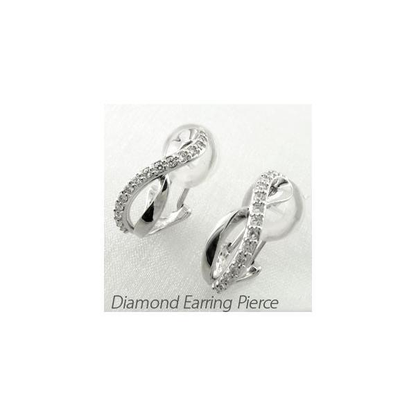 ダイヤモンド イヤリング レディース クリップ ゴールド 18k ピアス シンプル クロス 18金 K18
