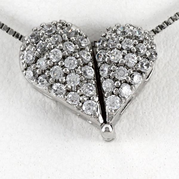 ダイヤモンド ネックレス レディース ペンダント ゴールド ハート ドロップ パヴェ 18金 K18