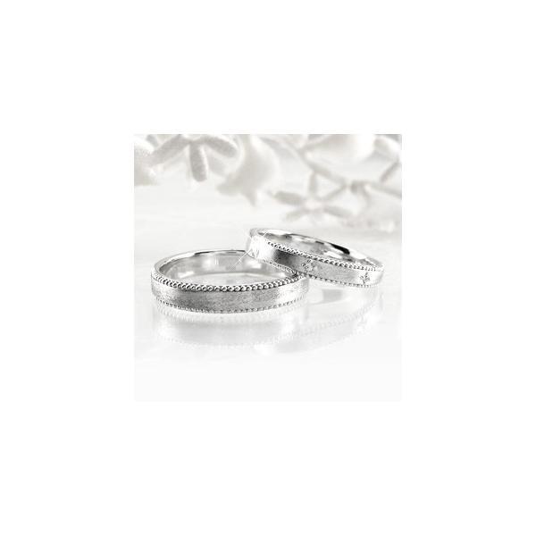 ペアリング ゴールド 18k ダイヤモンド 指輪 結婚指輪 マリッジリング アンティーク ミル K18