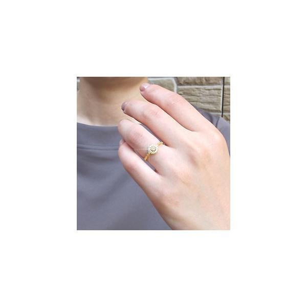 ダイヤモンド リング 指輪 ゴールド 18k アンティーク ミル サークル ラウンド 18金 K18 YG