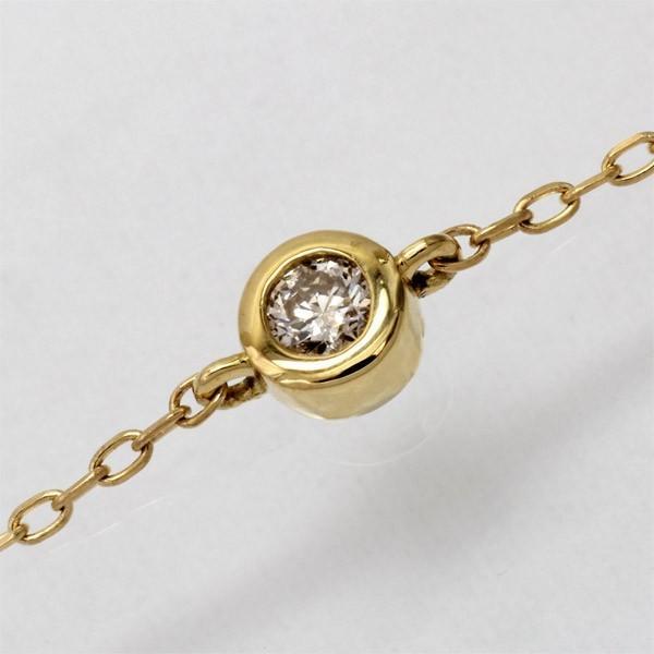 ブレスレット レディース k18 ブレスレット レディース 一粒 ダイヤ  0.10ct【Airy】 チェーン ブレス 18金 luire-jewelry 06