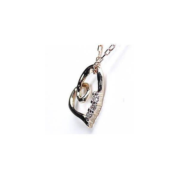 ネックレス ハートペンダント ダイヤ スリーストーン k18ピンクゴールド 18金 天然ダイヤモンド ネックレス luire-jewelry 04