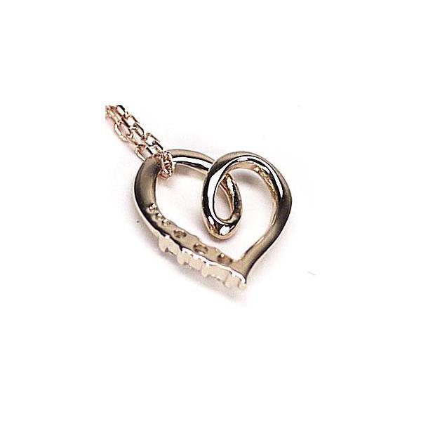 ネックレス ハートペンダント ダイヤ スリーストーン k18ピンクゴールド 18金 天然ダイヤモンド ネックレス luire-jewelry 05