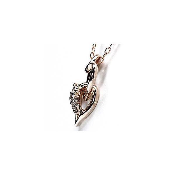 ネックレス ハートペンダント ダイヤ スリーストーン k18ピンクゴールド 18金 天然ダイヤモンド ネックレス|luire-jewelry|04