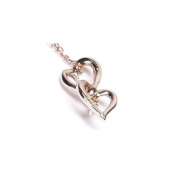 ネックレス ハートペンダント ダイヤ スリーストーン k18ピンクゴールド 18金 天然ダイヤモンド ネックレス|luire-jewelry|05