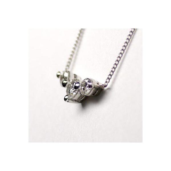ネックレス ペンダント PT900 プラチナ 天然ダイヤモンド トリロジーネックレス|luire-jewelry|02