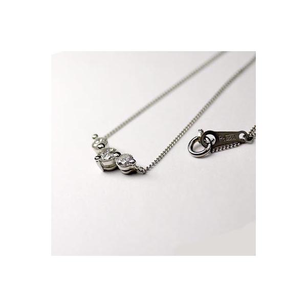 ネックレス ペンダント PT900 プラチナ 天然ダイヤモンド トリロジーネックレス|luire-jewelry|03