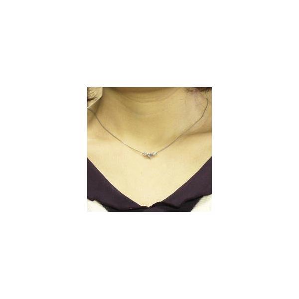 ネックレス ペンダント PT900 プラチナ 天然ダイヤモンド トリロジーネックレス|luire-jewelry|04