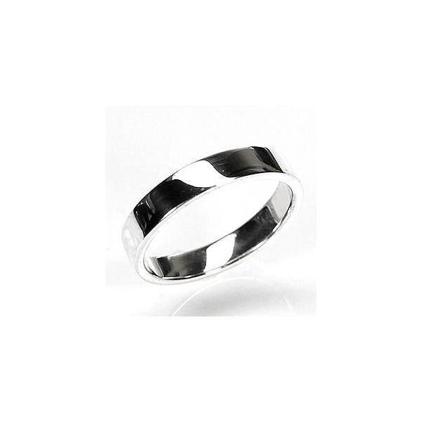 ペアリング 結婚指輪 k18ホワイトゴールド 18金 平打ち マリッジリング