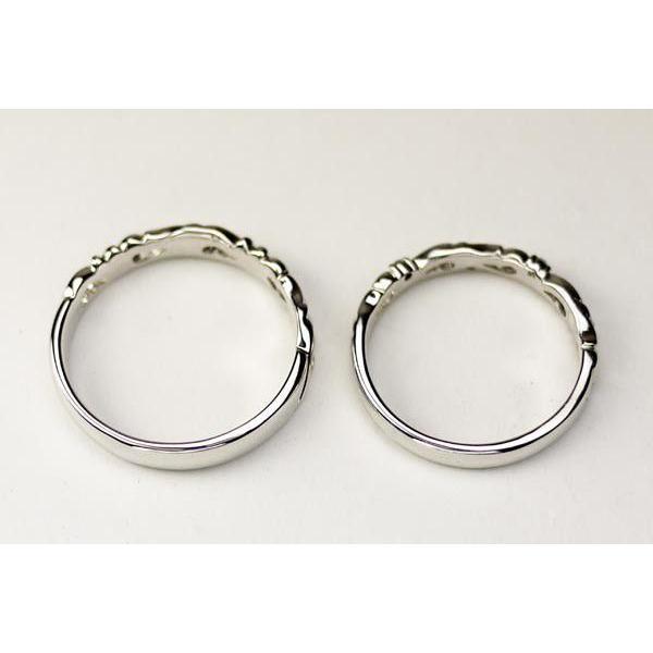 リング ペアリング 天然ダイヤンモンド 結婚指輪 k18ゴールド マリッジリング