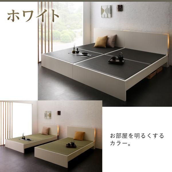 〔お客様組立〕 畳ベッド 〔い草タイプ/ワイドK240/SD×2〕ベッドフレームのみ 高さ調整できる国産ベッド 宮棚 照明付き|lukit|16