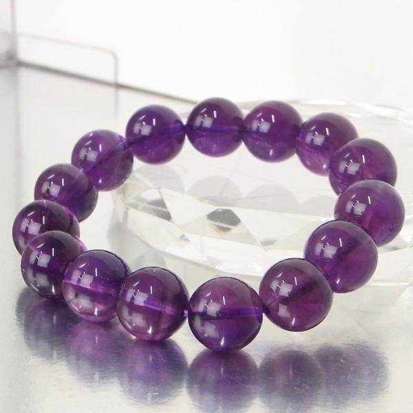 アメジスト ブレスレット 一点物 Amethyst  紫水晶  バングル 天然石 |メンズ レディース 海外直輸入価格で販売|
