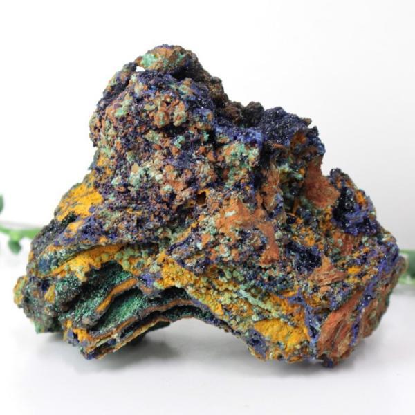 アズロマラカイト 原石 クラスター 原石 ラフ 鉱物 石 azurite malachite  アズライトマラカイト 置物 インテリア 厳選 一点物