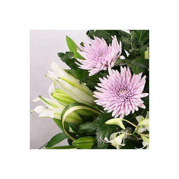 仏事 お供え 花 アナスタシア(ピンク)(ピンク系菊のアレンジメント)|lumiere|03