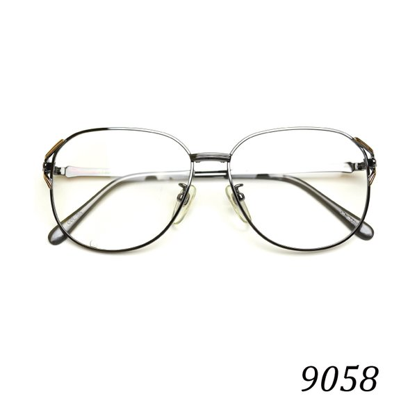 送料無料 メガネ 9058 クラシックメガネ ヴィンテージメガネ メタルフレーム 度付き 眼鏡 家用 布ケース 2021 在庫限り