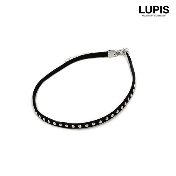 チョーカー レディーススタッズ ブラック レザー|lupis|03