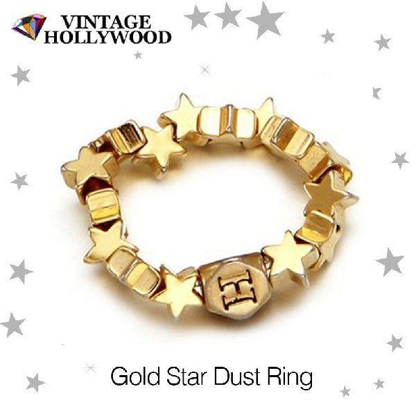 メール便 送料無料 ゴールド スターダスト リング VINTAGE HOLLYWOOD ヴィンテージ ハリウッド アクセサリー ジュエリー 指輪