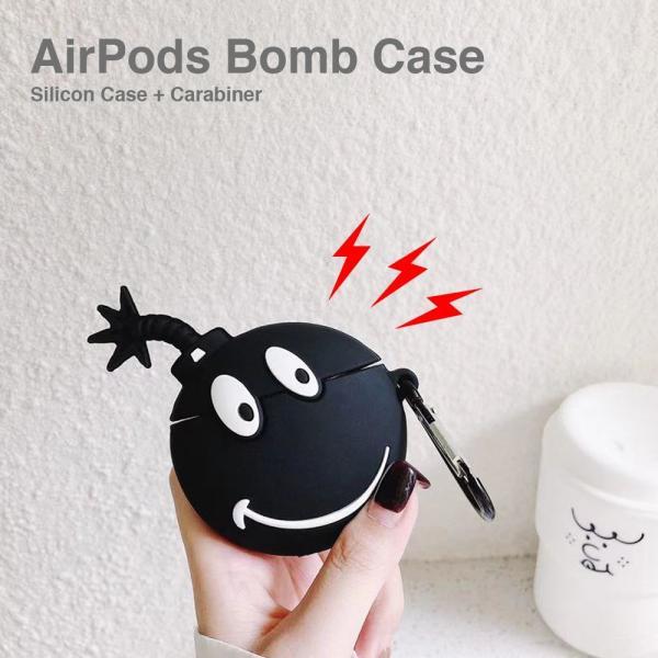ボム AirPods シリコン ケース エアポッド カバー ワイヤレス イヤホン ヘッドホン iPhone 爆弾|lupo