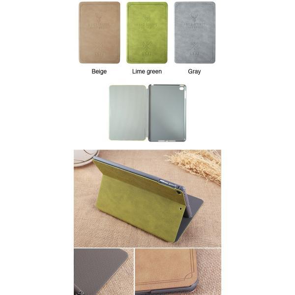 Deer iPad mini 4  7.9インチ A1538 A1550 対応 しか 鹿 手帳型  アイパッド ミニ ケース カバー 鹿の子風 フェイクレザー lupo 02