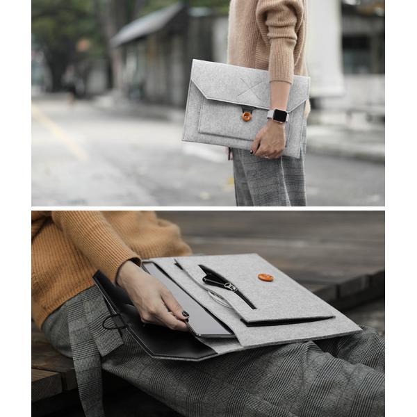 MacBook フェルト ケース Macbook12 Macbook Air 13 Macbook Pro 13 15  Retina & Touch Bar 最新モデル対応 バッグ マックブック ノートパソコン|lupo|04