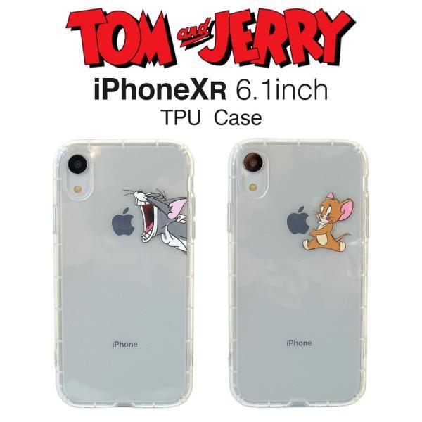 トムとジェリー iPhoneXR クリアケース アイフォンケース lupo