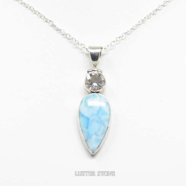ラリマー クォーツ 水晶 ペンダントトップ ペンダントヘッド ネックレストップ 天然石 パワーストーン