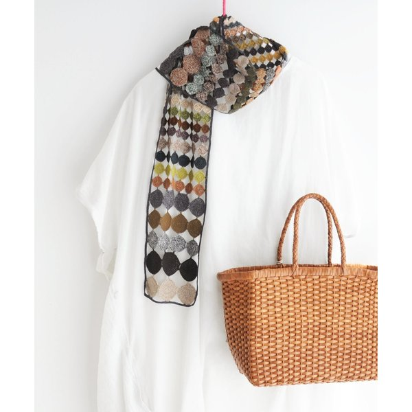 sophie digard ソフィーディガール INFINITY AND BEYOND  WOOL SCARF SMALL luvri 03
