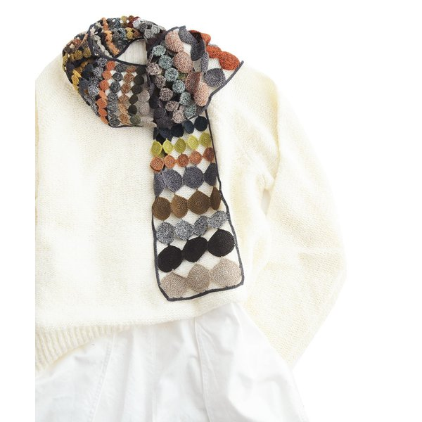 sophie digard ソフィーディガール INFINITY AND BEYOND  WOOL SCARF SMALL luvri 06