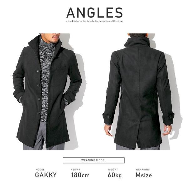 コート メンズ イタリアンカラー メルトン ウール ロングコート アウター 上品 大人 秋冬 ビター系|lux-style|12