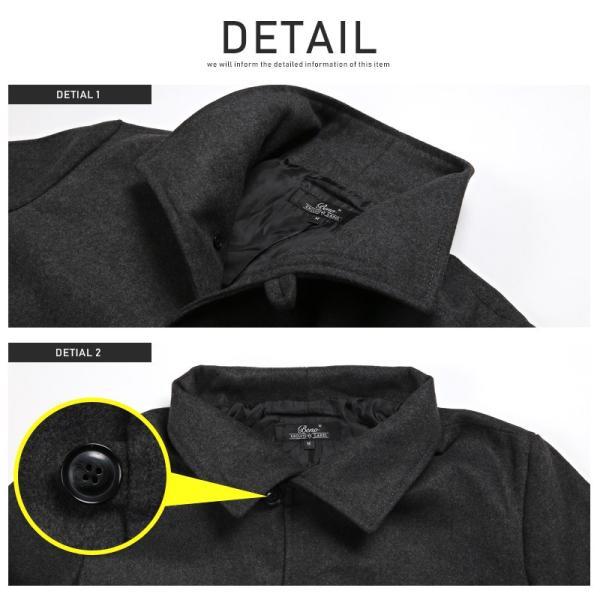 コート メンズ イタリアンカラー メルトン ウール ロングコート アウター 上品 大人 秋冬 ビター系|lux-style|13