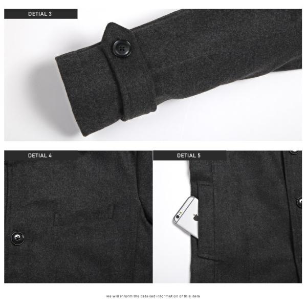 コート メンズ イタリアンカラー メルトン ウール ロングコート アウター 上品 大人 秋冬 ビター系|lux-style|14