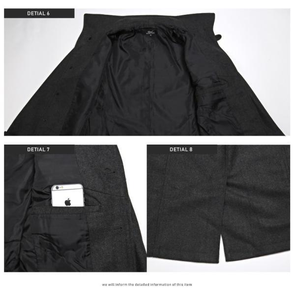 コート メンズ イタリアンカラー メルトン ウール ロングコート アウター 上品 大人 秋冬 ビター系|lux-style|15