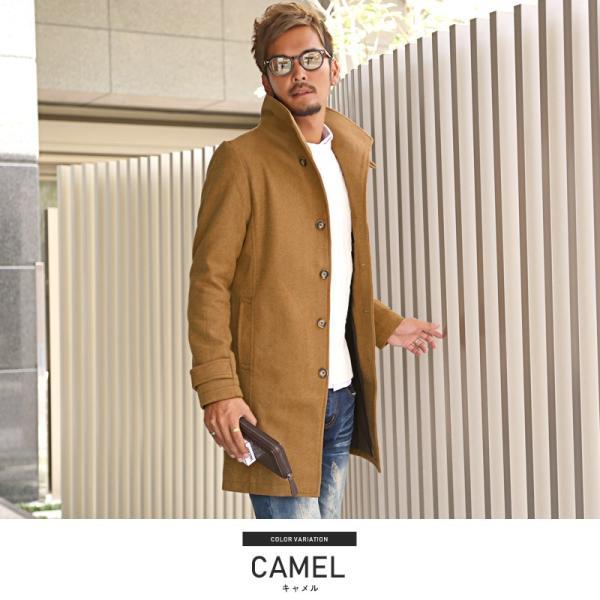 コート メンズ イタリアンカラー メルトン ウール ロングコート アウター 上品 大人 秋冬 ビター系|lux-style|04