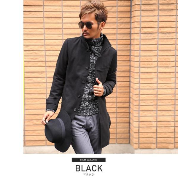 コート メンズ イタリアンカラー メルトン ウール ロングコート アウター 上品 大人 秋冬 ビター系|lux-style|06