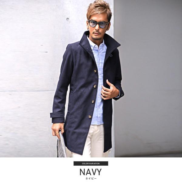 コート メンズ イタリアンカラー メルトン ウール ロングコート アウター 上品 大人 秋冬 ビター系|lux-style|08