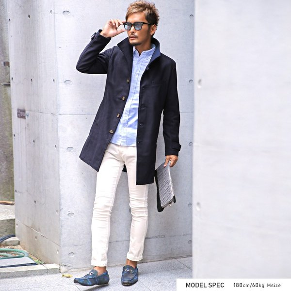 コート メンズ イタリアンカラー メルトン ウール ロングコート アウター 上品 大人 秋冬 ビター系|lux-style|09