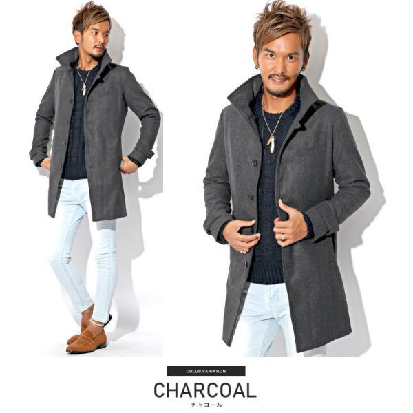 コート メンズ イタリアンカラー メルトン ウール ロングコート アウター 上品 大人 秋冬 ビター系|lux-style|10