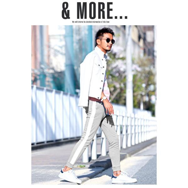 ジョガーパンツ メンズ ポンチ スウェットパンツ サイドライン イージーパンツ|lux-style|12