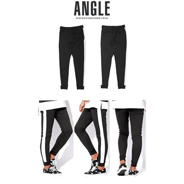 ジョガーパンツ メンズ ポンチ スウェットパンツ サイドライン イージーパンツ|lux-style|19