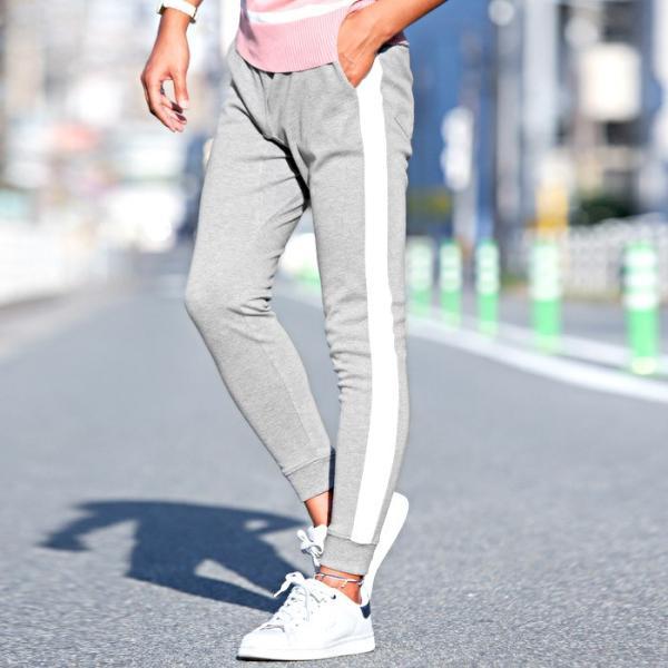 ジョガーパンツ メンズ ポンチ スウェットパンツ サイドライン イージーパンツ|lux-style|05