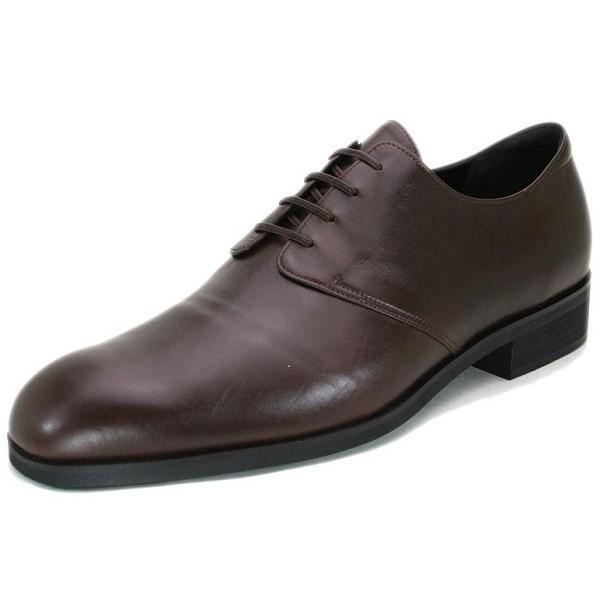 カーフ ロングノーズ プレーントゥ 紳士靴 LC8001 ワイズも選べる受注生産 日本製・自社内製造|luxcel-shop