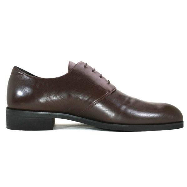 カーフ ロングノーズ プレーントゥ 紳士靴 LC8001 ワイズも選べる受注生産 日本製・自社内製造|luxcel-shop|02
